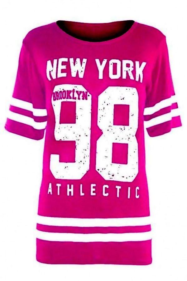 Yellow New York 98 Oversize T-Shirt