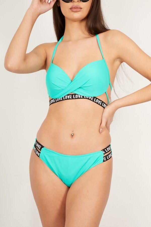 Teal Love Bikini