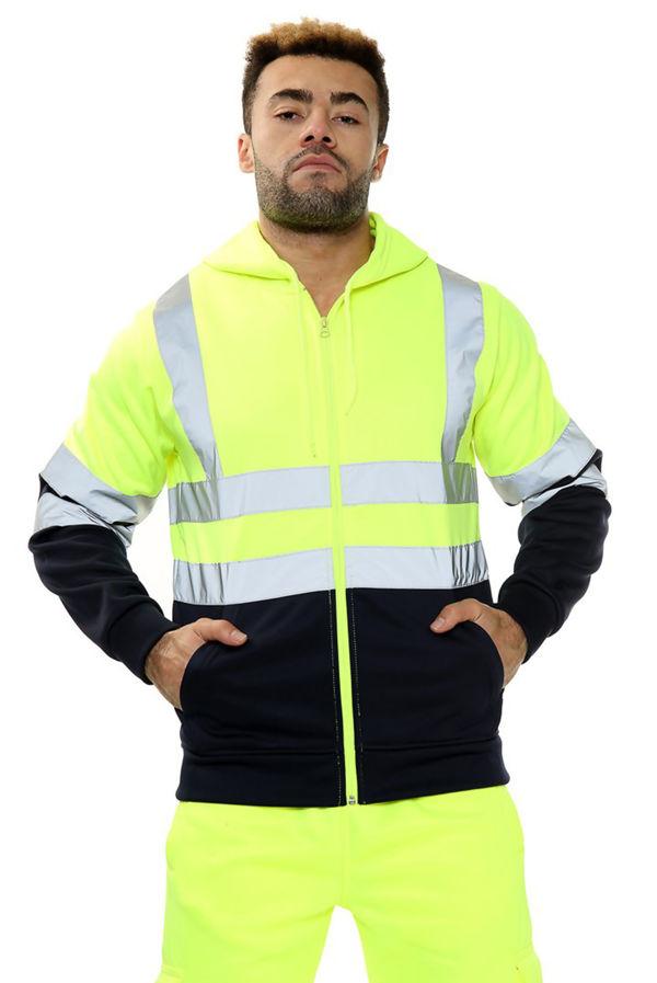 Yellow Hi Vis Double Tone Fleece Suit