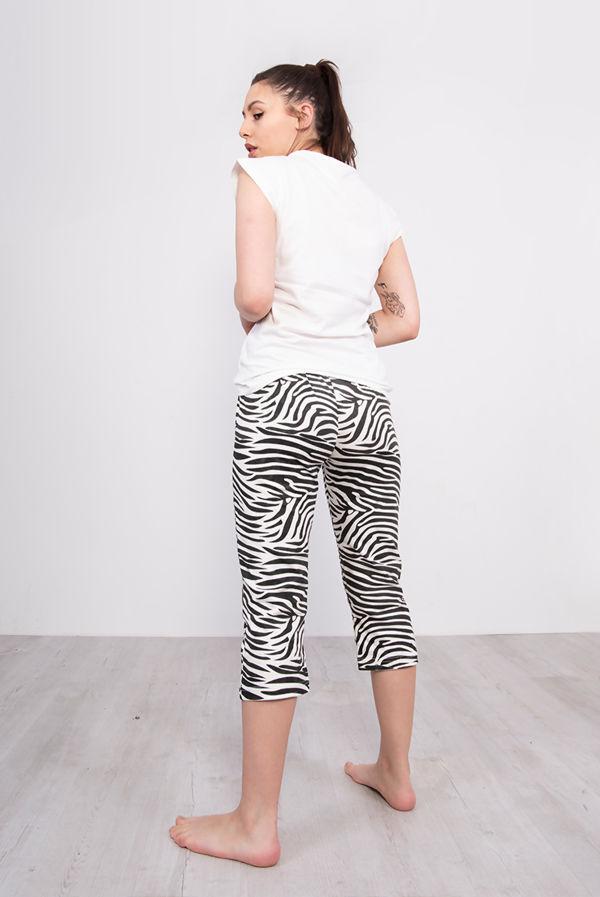 Zebra Striped Short Sleeve Pyjama Set