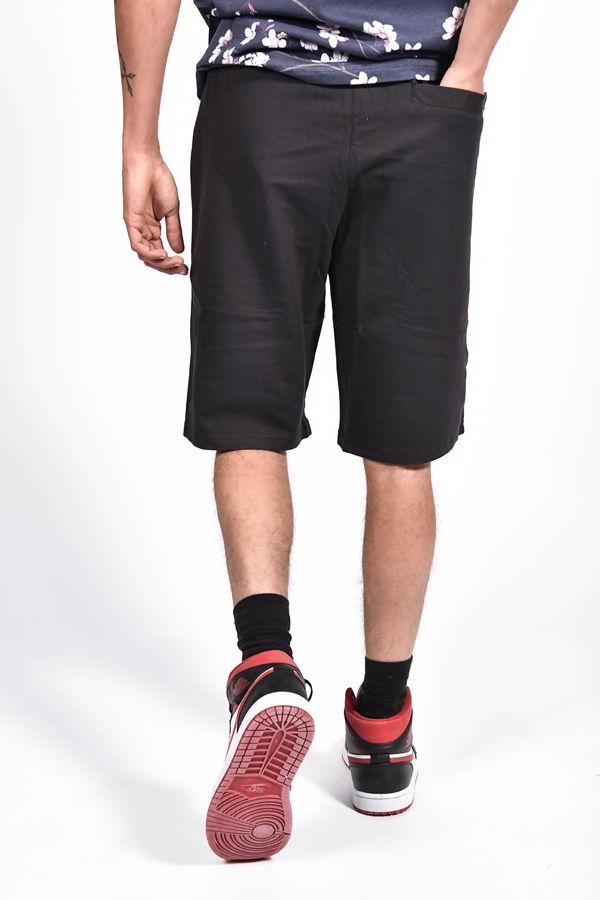 Black Zip Pocket Jersey Shorts
