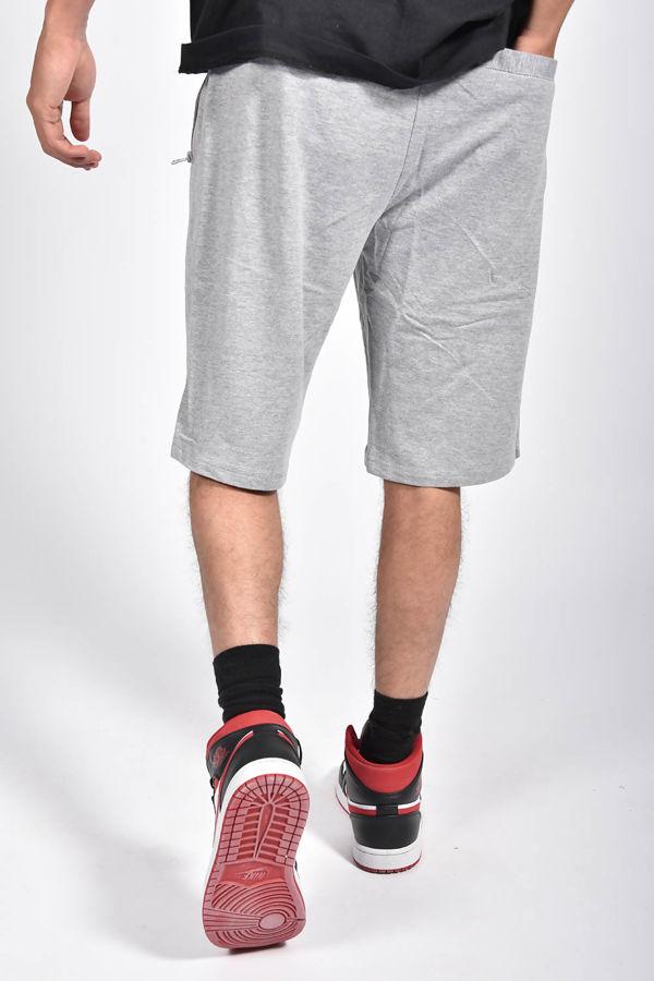 Grey Zip Pocket Jersey Shorts