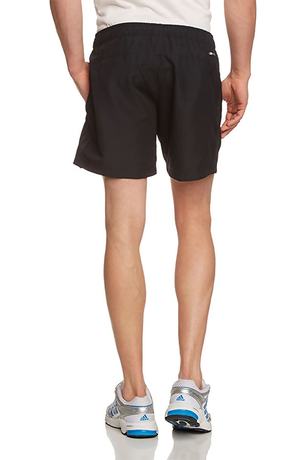 Black Adidas Mens Essentials 3-Stripes Chelsea Shorts