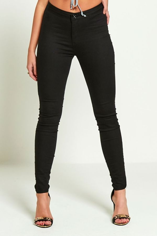 Plus Size Black High Waisted Skinny Jeans