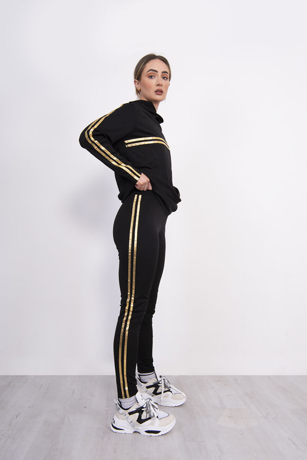 Twin Stripe Detail Hooded Lounge Wear