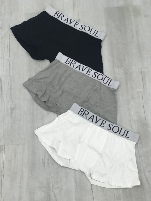 Black White And Grey Brave Soul Boxer Shorts