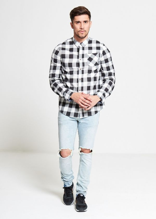 White Jack Checked Shirt