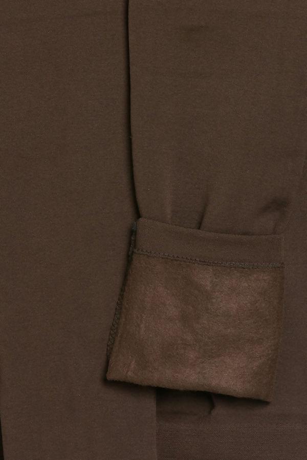 Brown Fleece Leggings