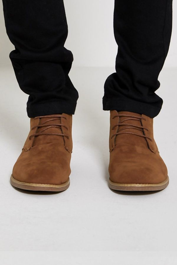 Camel Faux Suede Boots