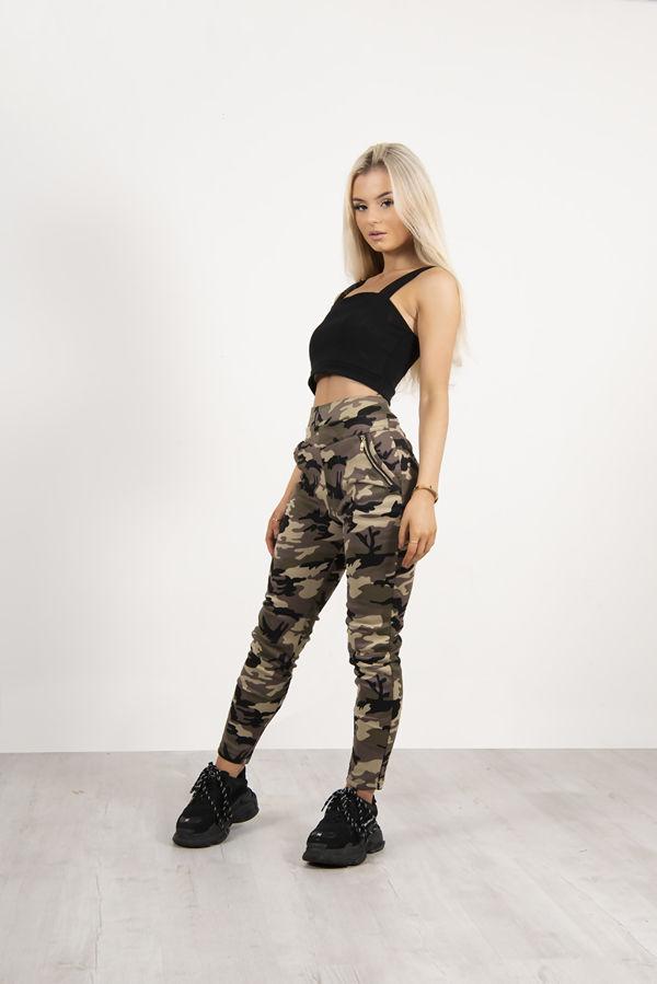 Camo Slim Leg Trouser