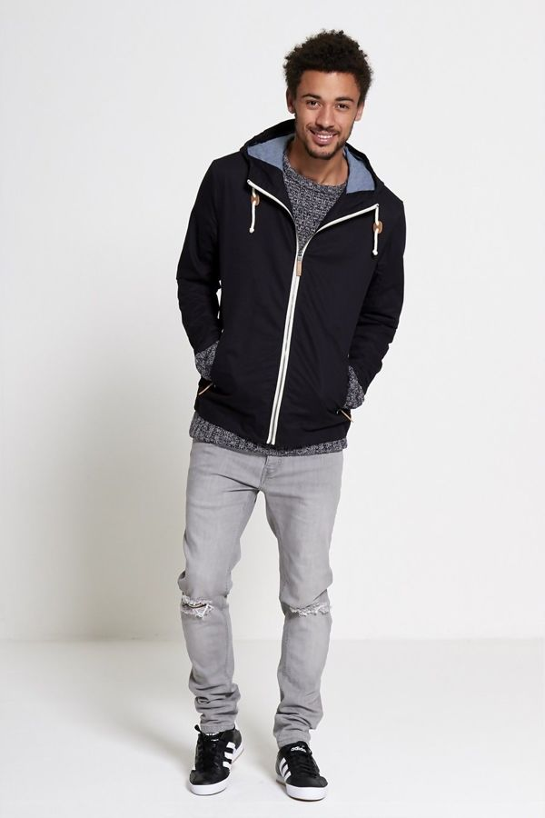 Contrast Piping Light Weight Jacket