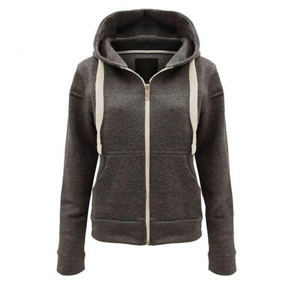 Plus Size Navy Basic Hooded Jacket
