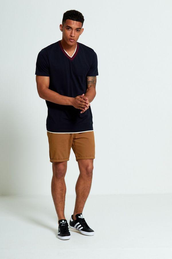 Lime Denim Turn Up Shorts