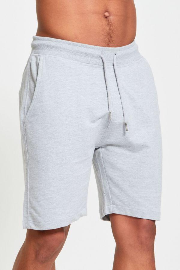 Pink Plain Basic Sweat Shorts