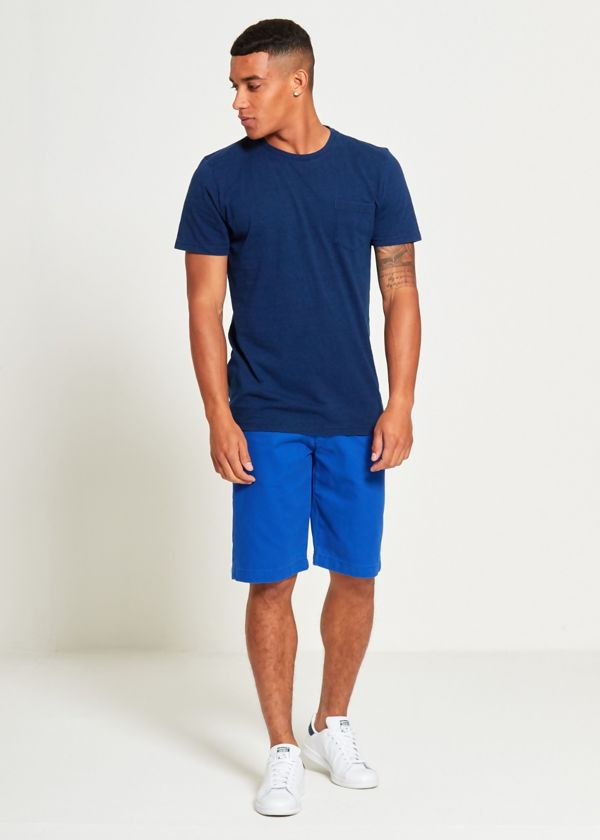 Blue Plain Pocket T-Shirt