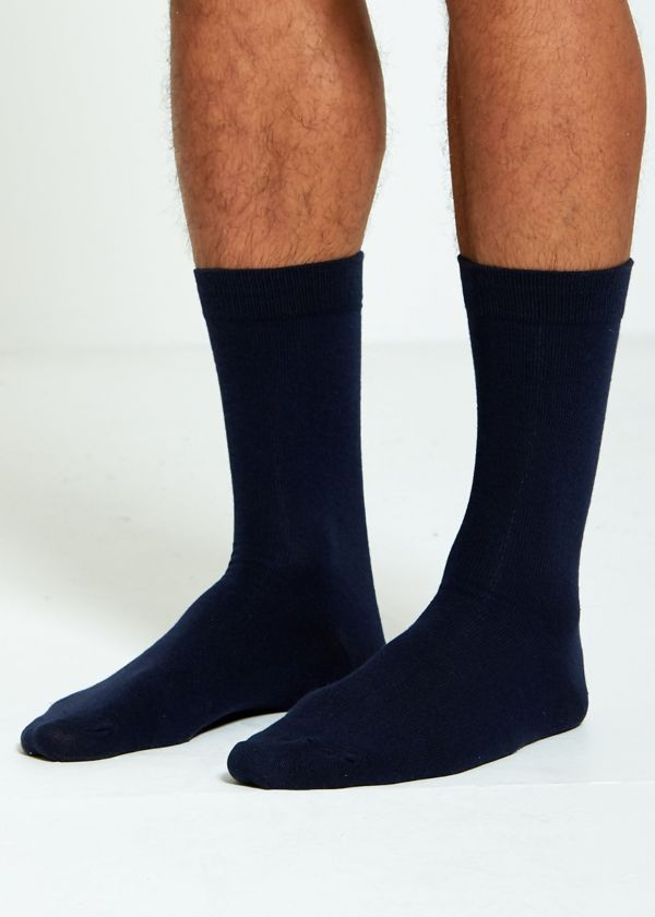 Navy Basic Socks