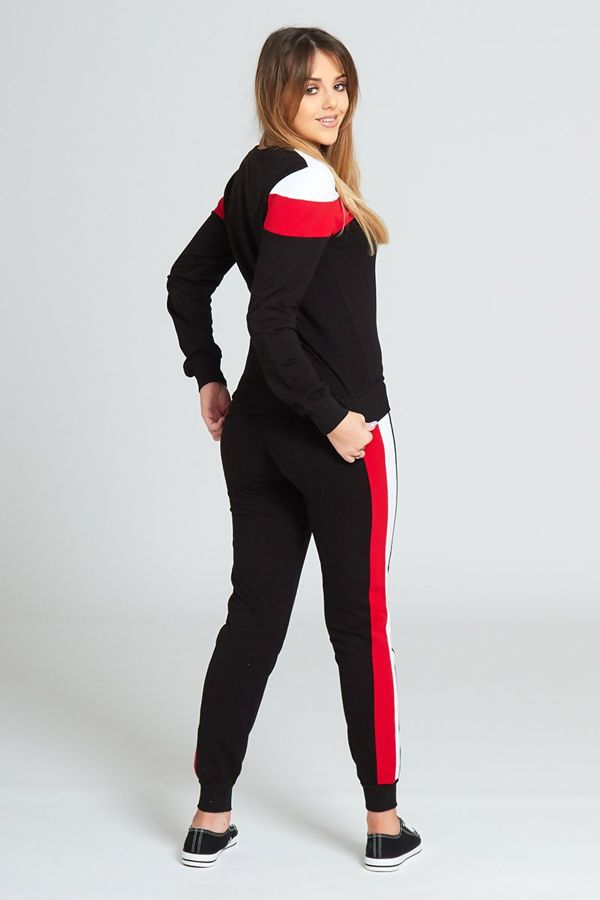 Black Striped Detail Tracksuit