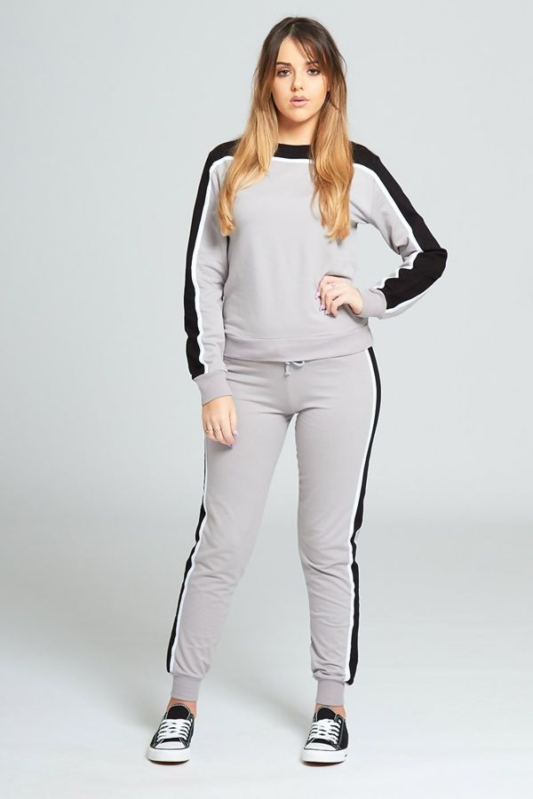 Grey Stripe Tracksuit