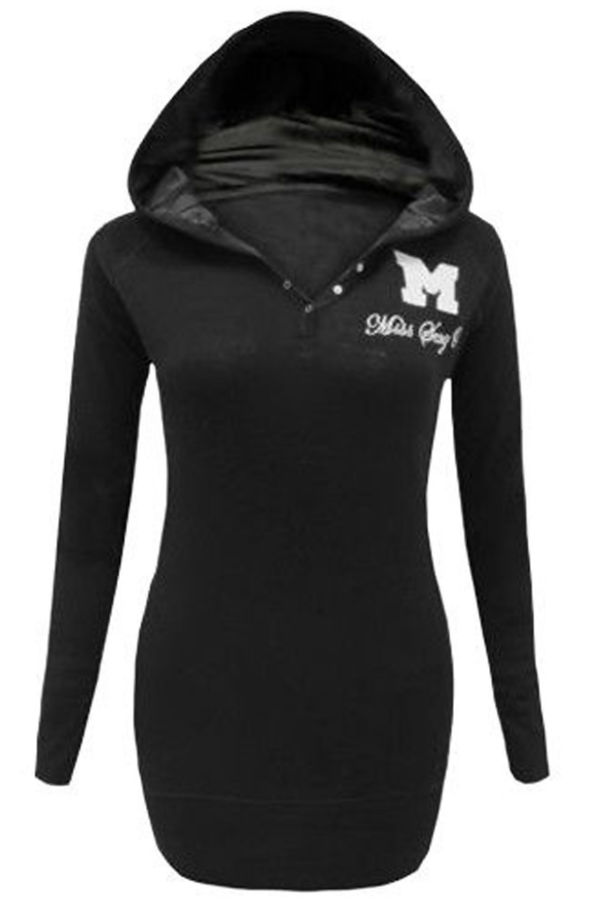Plus Size Khaki Hooded Plain Cotton Jumper Top
