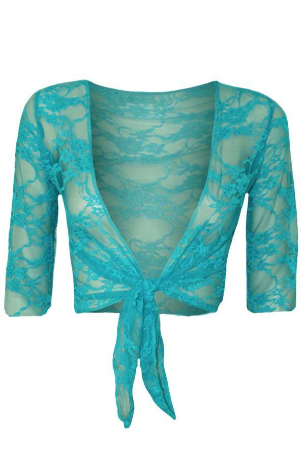 Tie Up Lace Shrug