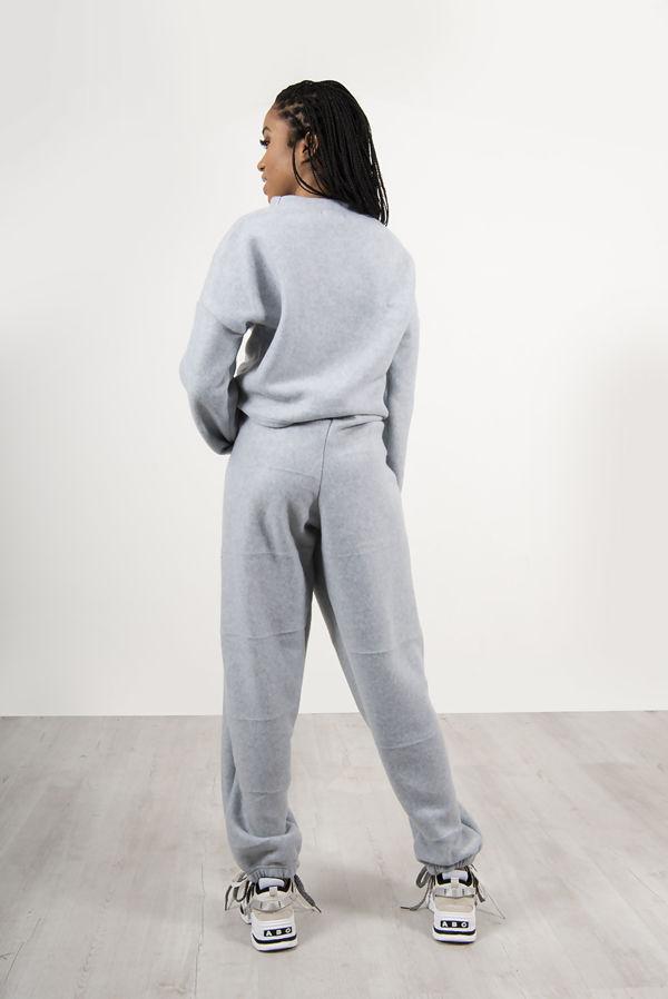 Grey Super Soft Fleece Lounge Sweat and Jogger Set
