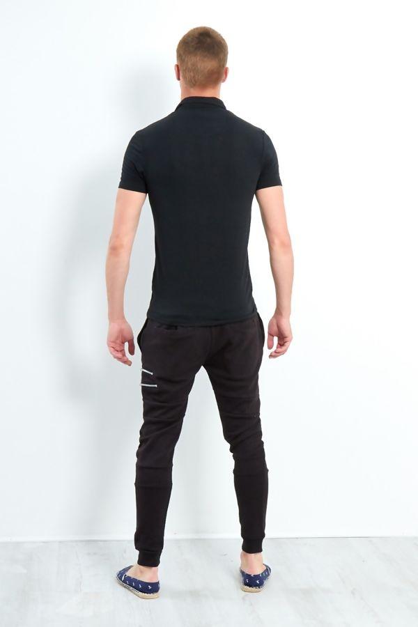Black Short Sleeve Polo T-Shirt