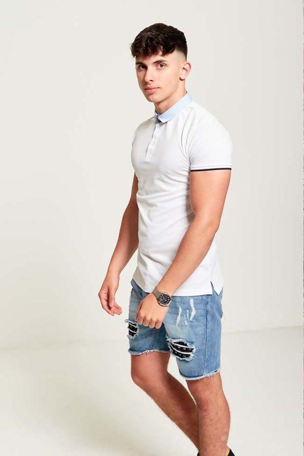 Navy Stripe Polo T-Shirt