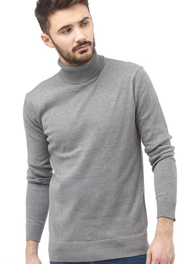 Rust Polo Neck Jumper