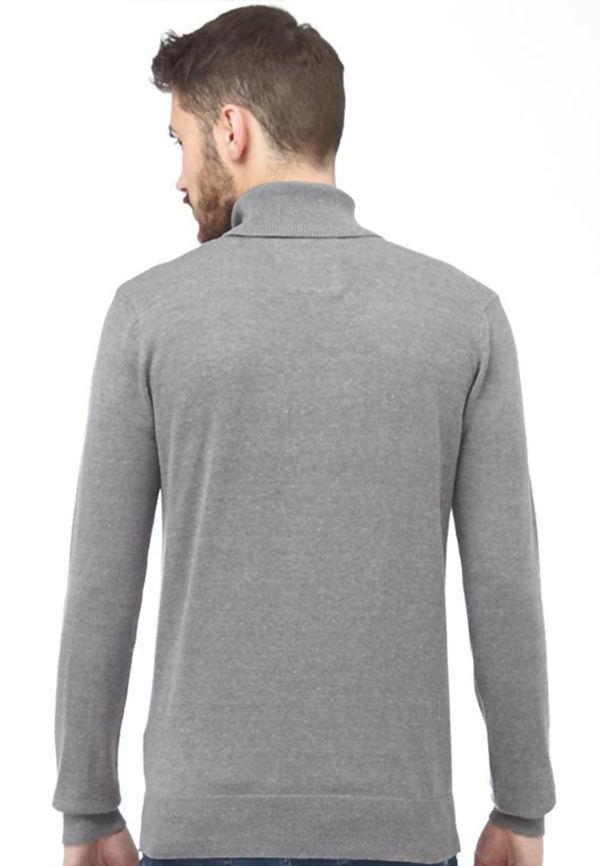 Grey Polo Neck Jumper