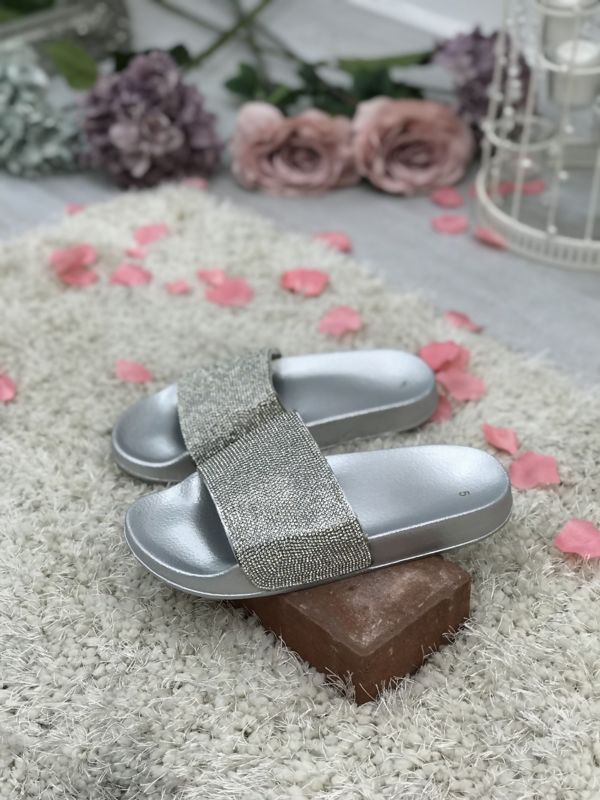 Grey Block Coloured Glitter Sliders