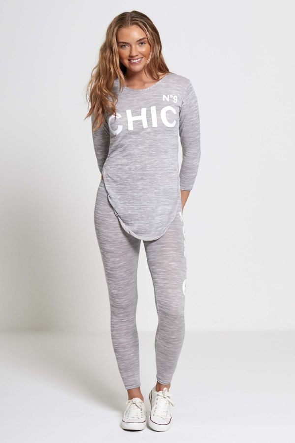 Plus Size Charcoal NO9 Chic Tracksuit