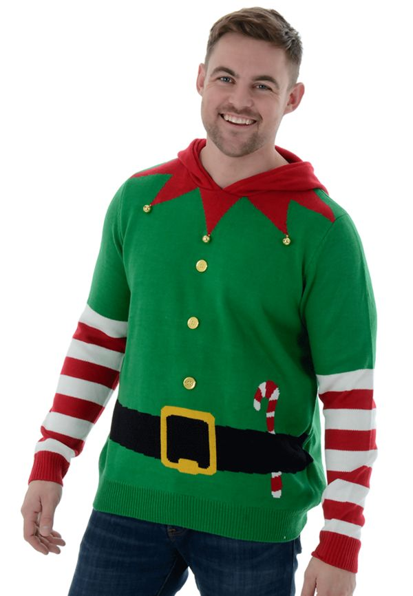 Elf Body With Jingle Bell Christmas Jumper