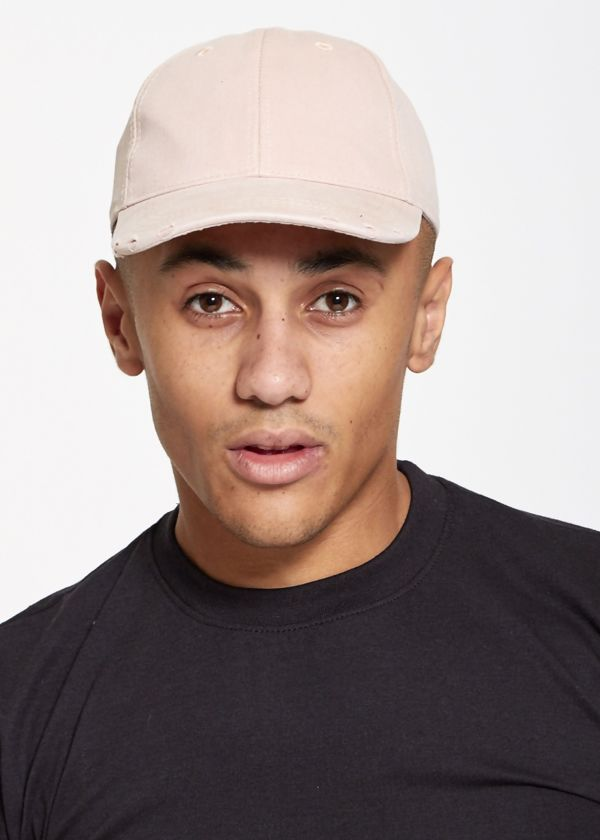 Distressed Twill Baseball Cap