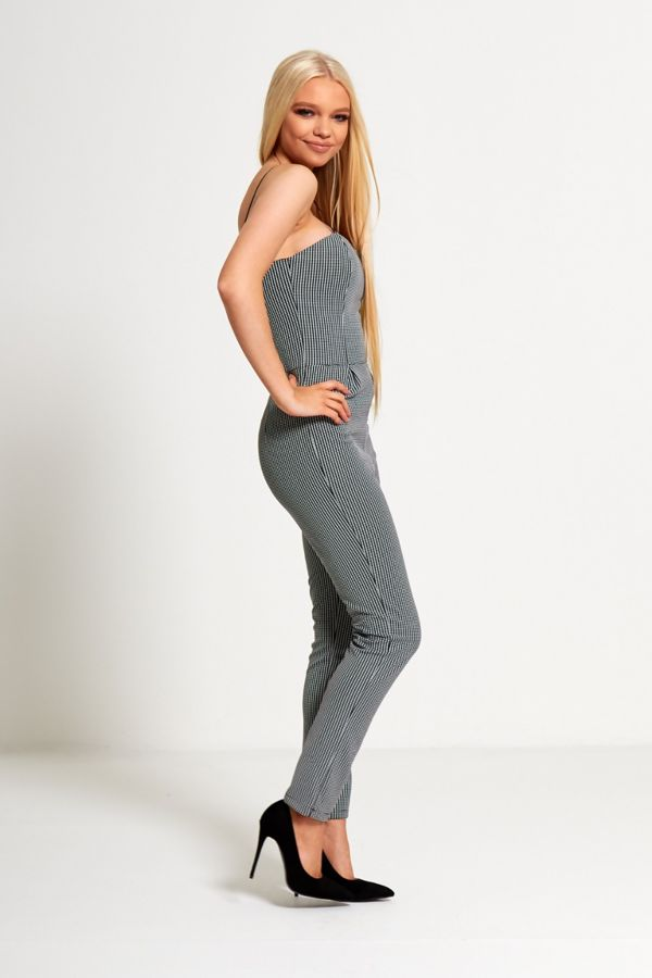 Monochrome Strap Jumpsuit
