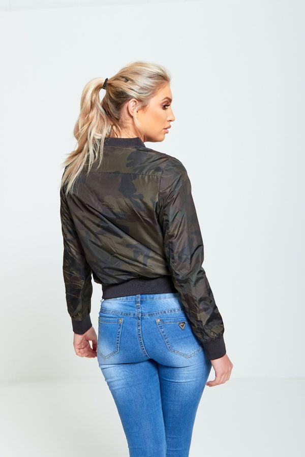 Camo Crop Cagoule Jacket