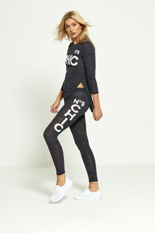 Plus Size Black NO9 Chic Tracksuit