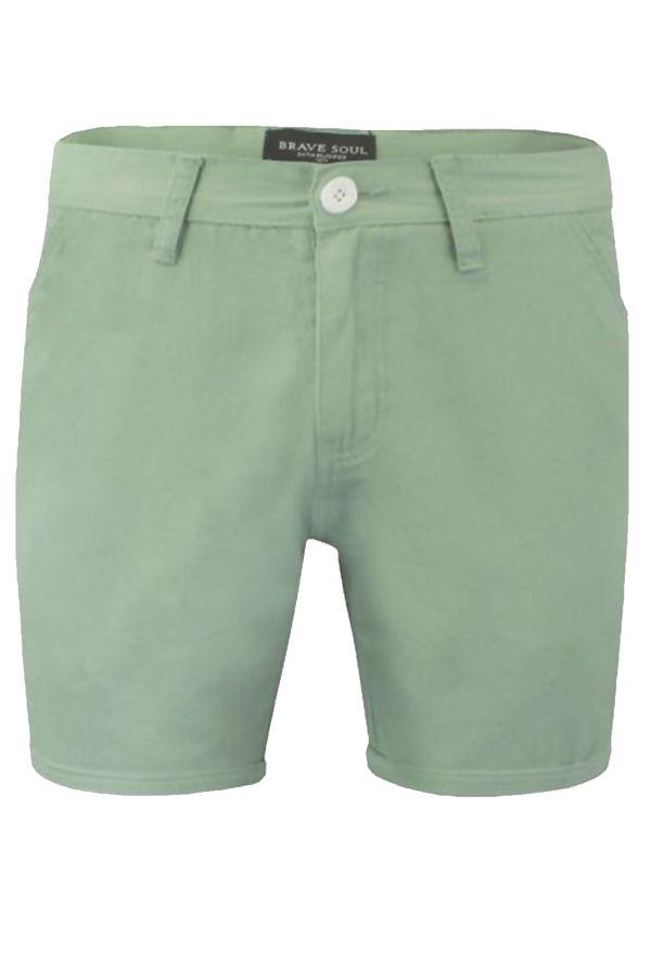 Mint Denim Turn Up Shorts
