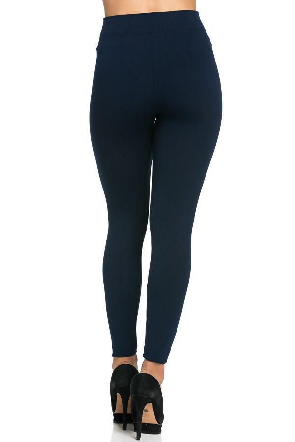 Navy Fleece Leggings