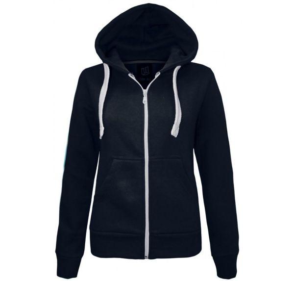 Double Plus Size Turquoise Basic Hooded Jacket