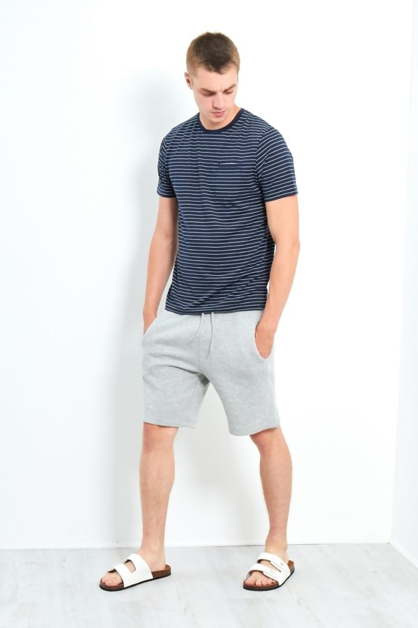CREW NECK T-SHIRT WITH STRIPE