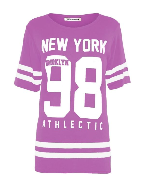 Fuchsia New York 98 Oversize T-Shirt