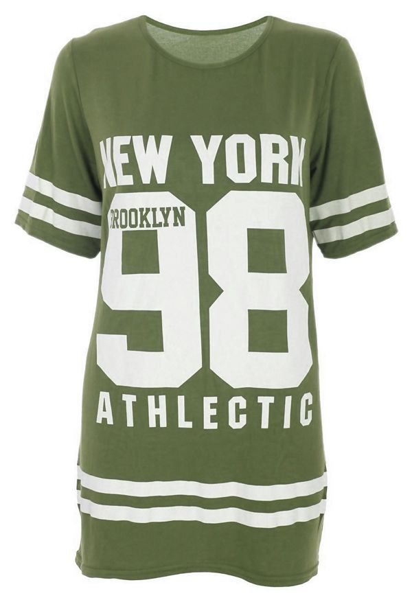 Fuchsia New York 98 Oversize T-Shirt