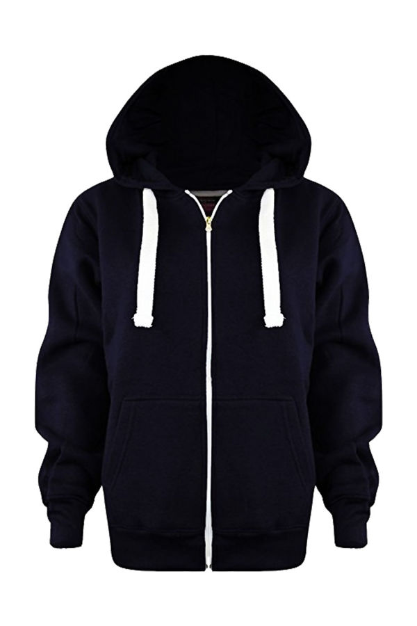 Kids Navy Basic Hoodies