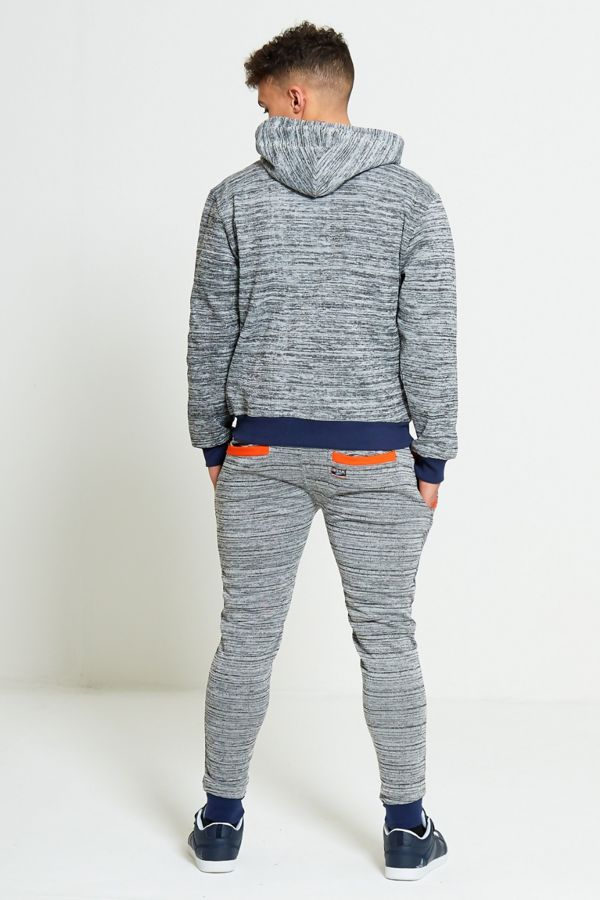 Blue Space Dye Contrast Skinny Fit Tracksuit