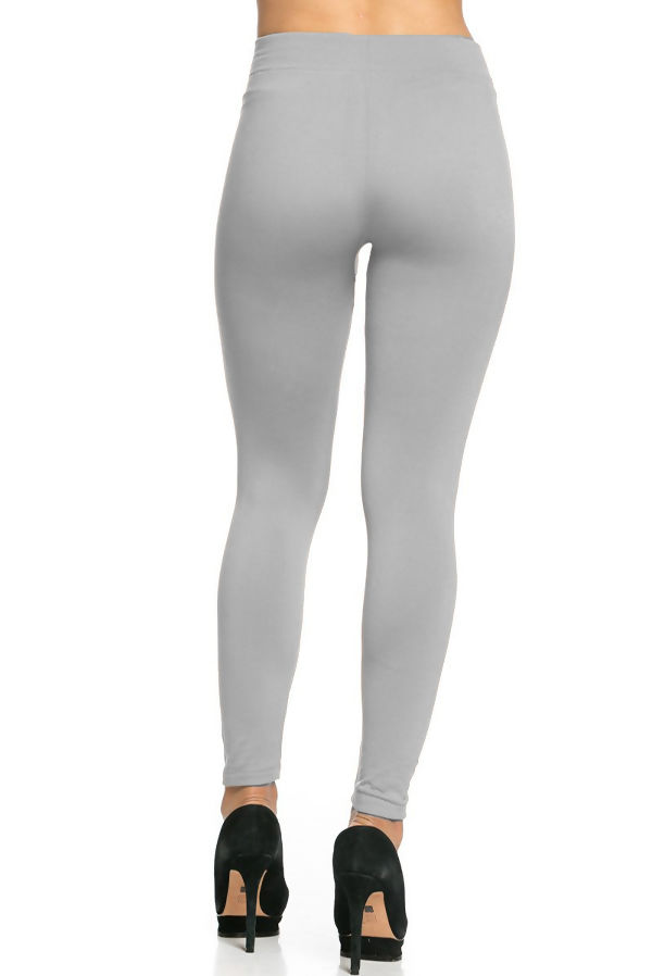 Silver Fleece Leggings