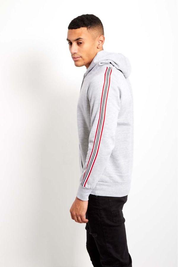 Grey Brave Soul Multi Coloured Striped Hoody