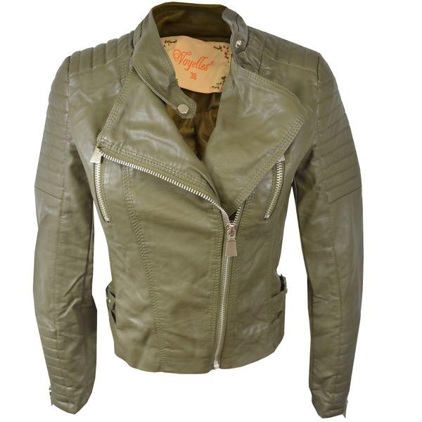 Plus Size Classic Moto Bike Jacket